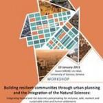 Workshop on Building Resilient Communities in Geneva